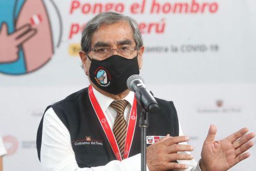 Ministro de Salud, Oscar Ugarte. ANDINA/Difusión