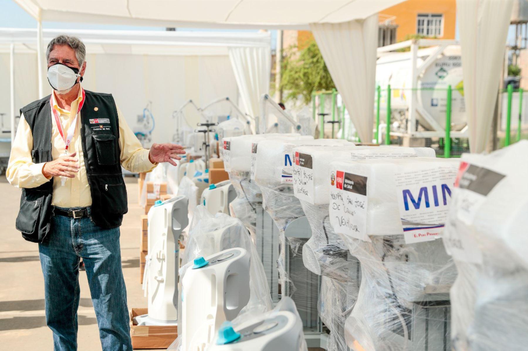 Presidente Sagasti entrega material médico a hospitales de Ica | Noticias |  Agencia Peruana de Noticias Andina