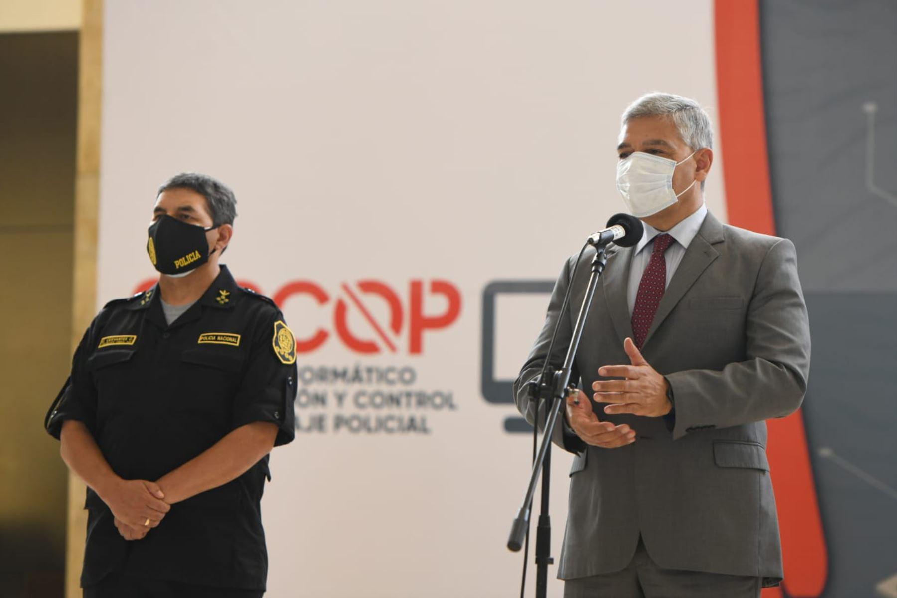 El Ministro del  Interior José Elice resalto una de las nuevas funciones del Sipcop,  relacionada con la lucha contra la violencia hacia la mujer, como  una prioridad del Mininter. Foto: ANDINA/  Mininter