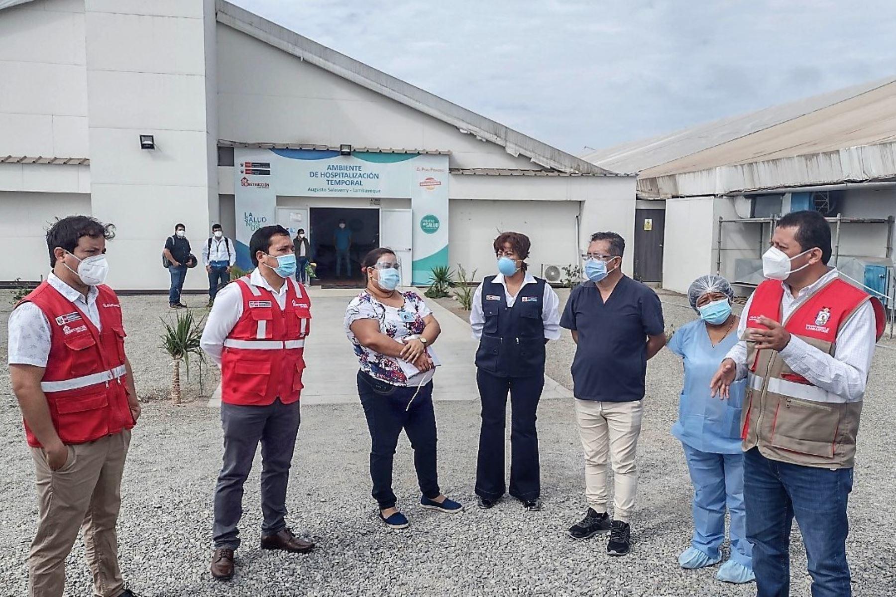Autoridades regionales de Lambayeque realizaron visita de inspección al centro de atención temporal del distrito de La Victoria. Foto: ANDINA/Difusión