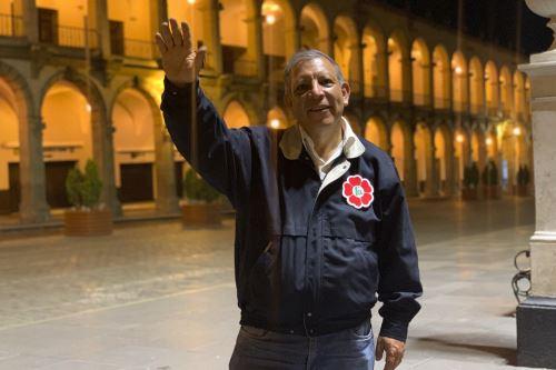 Marco Arana, aspirante a la Presidencia de la República por el Frente Amplio. ANDINA