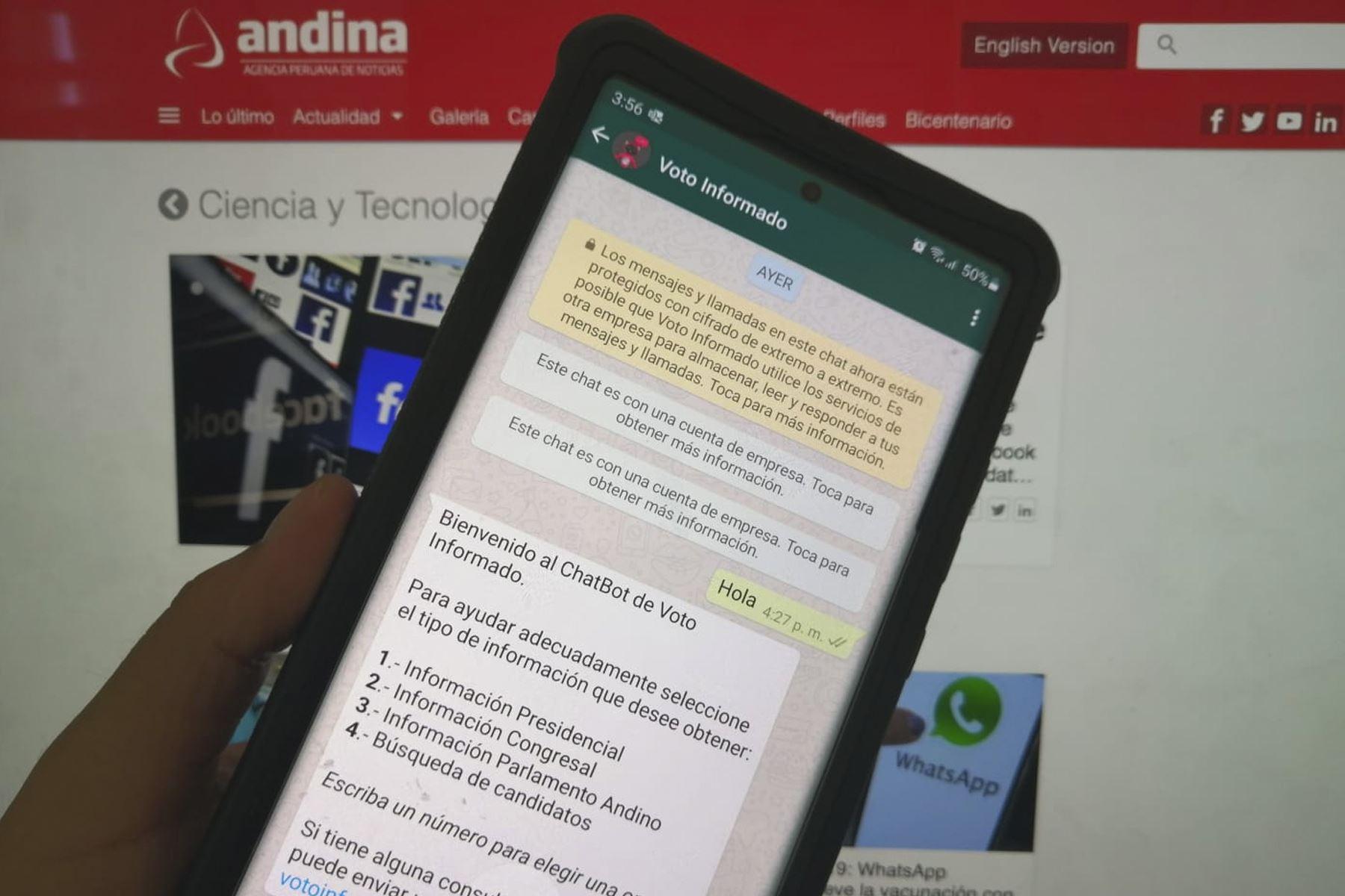 Elecciones 2021 Whatsapp Y Jne Luchan Contra La Desinformacion Noticias Agencia Peruana De Noticias Andina