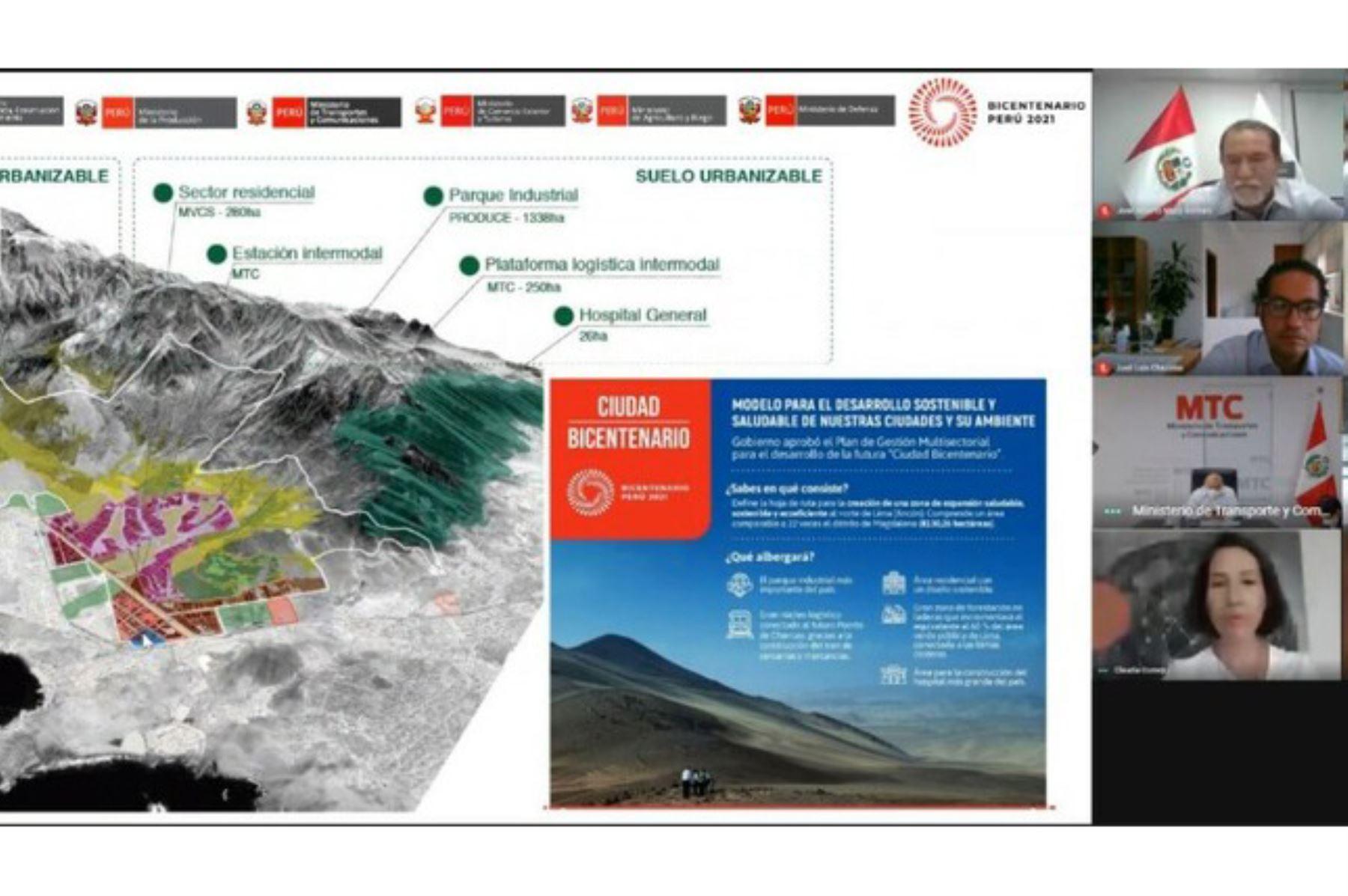 El proyecto multisectorial Ciudad Bicentenario incluirá diversos proyectos estratégicos nacionales. Foto: ANDINA/Difusión