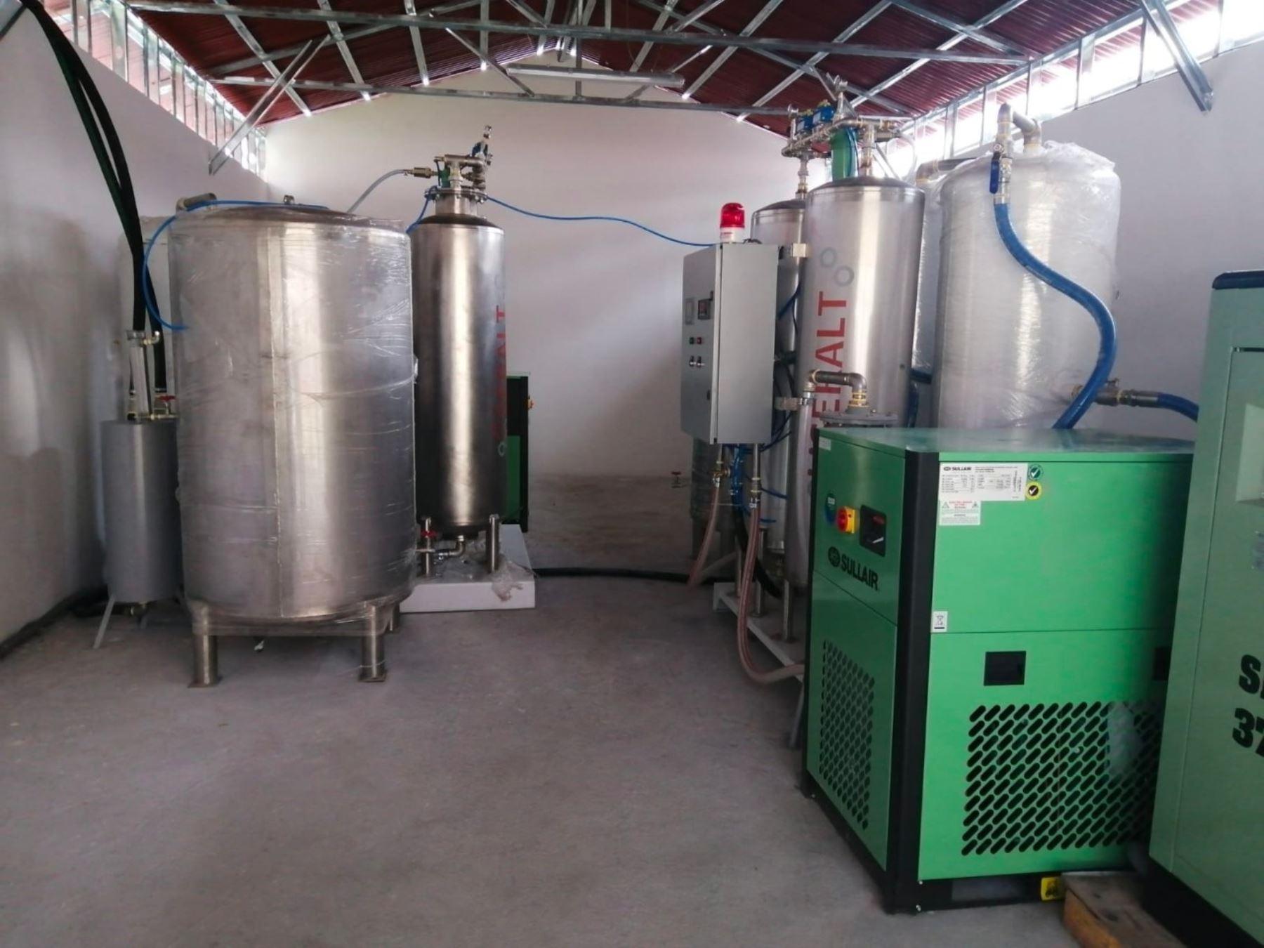 Áncash: instalan segunda planta de oxígeno en Centro de Atención Temporal de Rosas Pampa