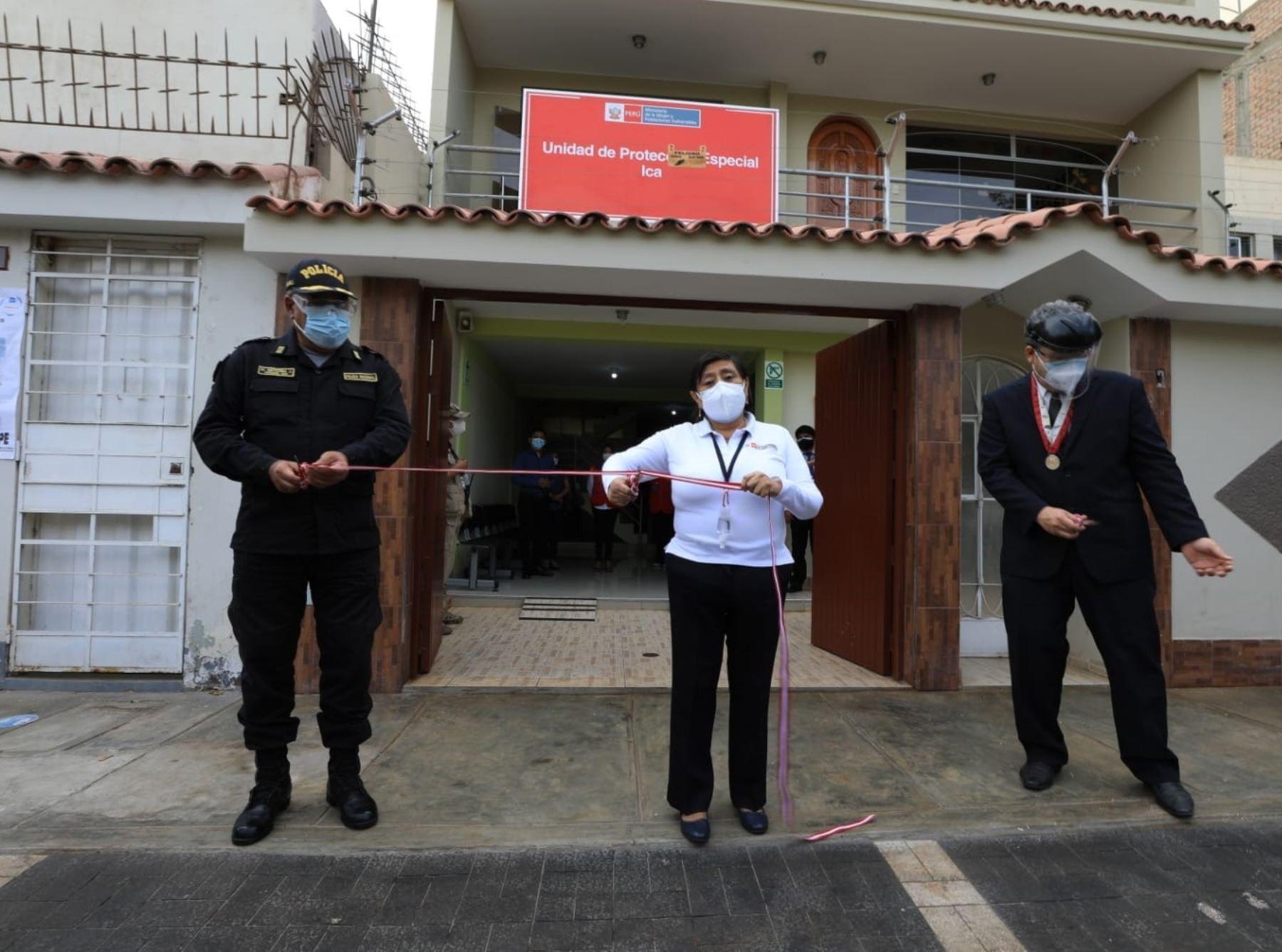 Ministerio de la Mujer y Poblaciones Vulnerables (MIMP) inaugura en Ica sede de la Unidad de Protección Especial para fortalecer protección de niños y adolescentes en abandono. ANDINA/Difusión