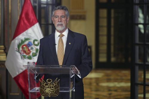 Presidente Francisco Sagasti brinda mensaje a la Nación