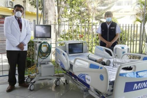 El Minsa entregó hoy 10 kits de camas UCI al Hospital Cayetano Heredia de Lima. Foto: ANDINA/Difusión