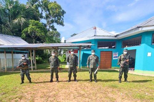 Efectivos de la Marina custodiarán los locales de votación en la provincia amazónica de Maynas.
