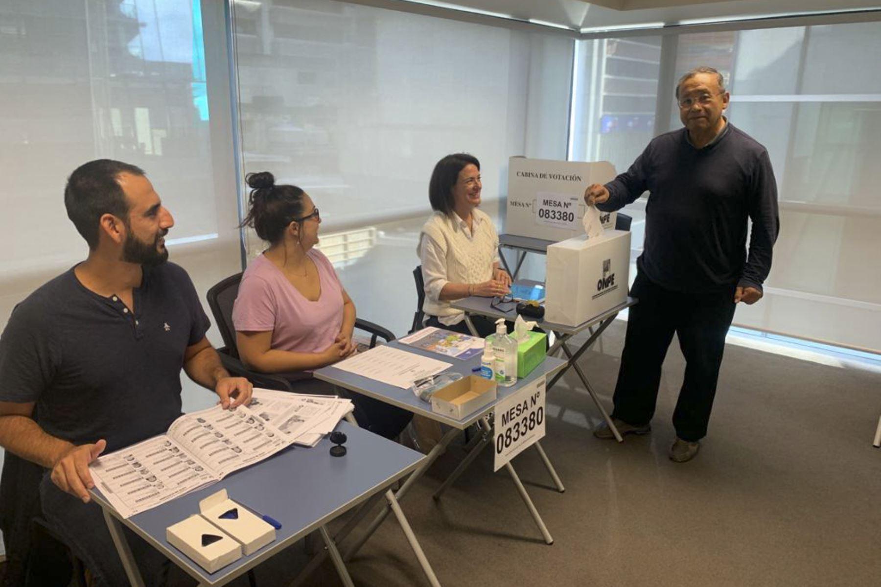 Se da inicio a las Elecciones 2021 en el exterior con la participación de nuestros connacionales en Wellington y Auckland, Nueva Zelanda. Foto: ANDINA/Cancilleria