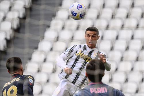 Cristiano Ronaldo intentó anotar ante el Génova