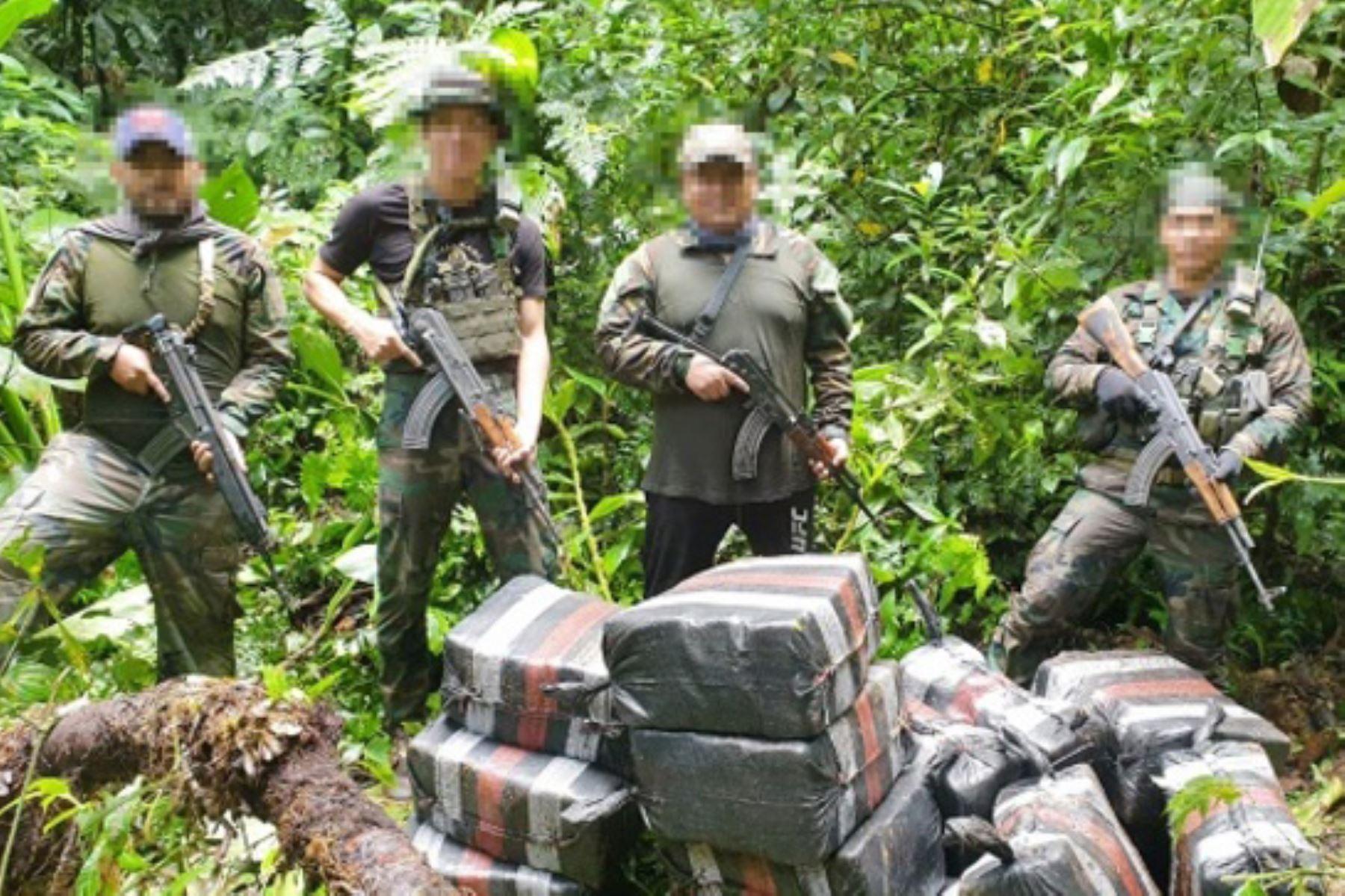 Un total de 956 kilos de clorhidrato de cocaína de alta pureza fueron incautados en un campamento clandestino en el Cusco. Foto: ANDINA/Difusión