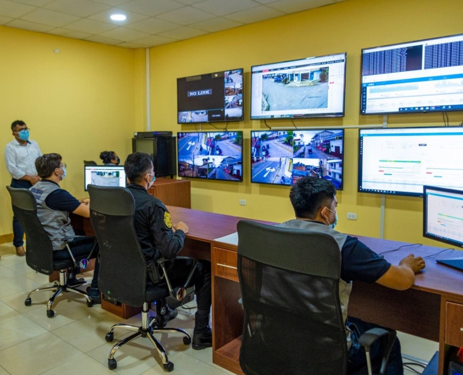 Lamas refuerza seguridad ciudadana con instalación de 25 cámaras de videovigilancia y así garantizar la tranquilidad de los turistas que visitan esta ciudad ubicaada en San Martín. ANDINA/Difusión