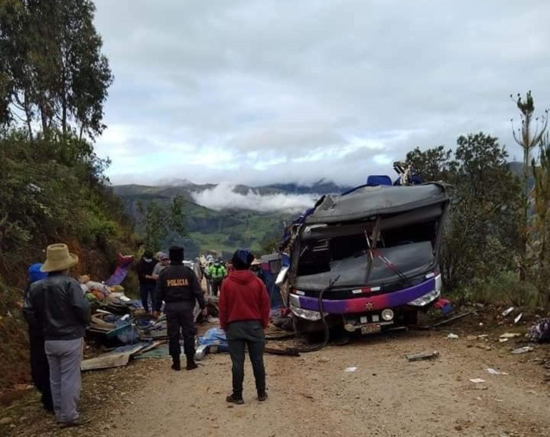 Los 15 heridos que dejó el trágico accidente de tránsito en la sierra de Áncash son atendidos en el Hospital de Pomabamba. ANDINA/Difusión