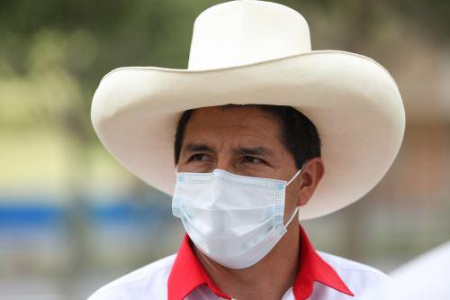 Pedro Castillo, candidato presidencial por Perú Libre. Foto: ANDINA/Braian Reyna.