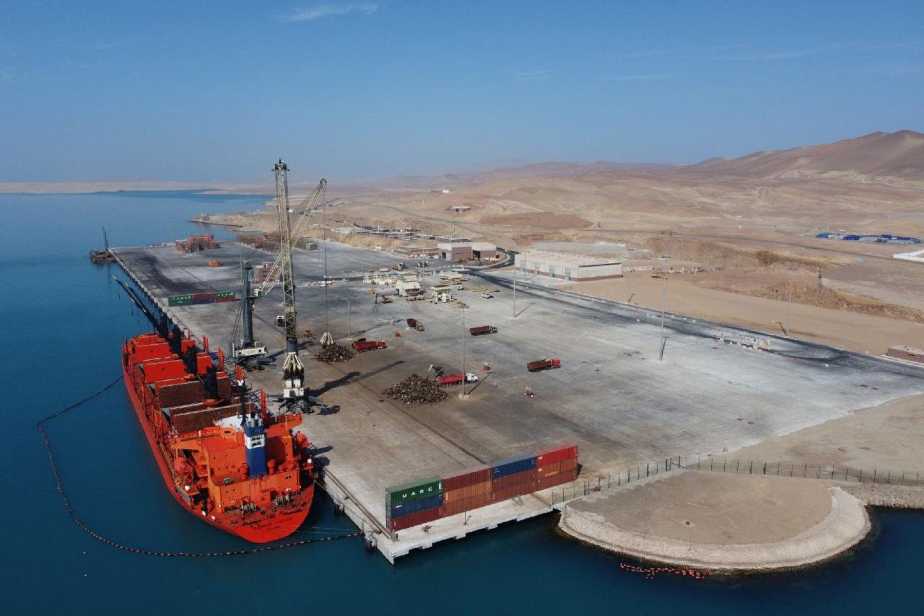 Terminal portuario General San Martín. Foto: cortesía MTC.