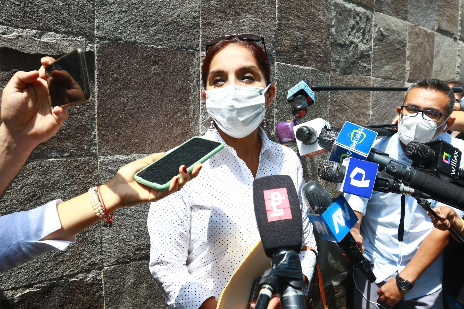 Patricia Juárez, candidata a la Vicepresidencia por Fuerza Popular. Foto: ANDINA/Jhonel Rodríguez Robles.