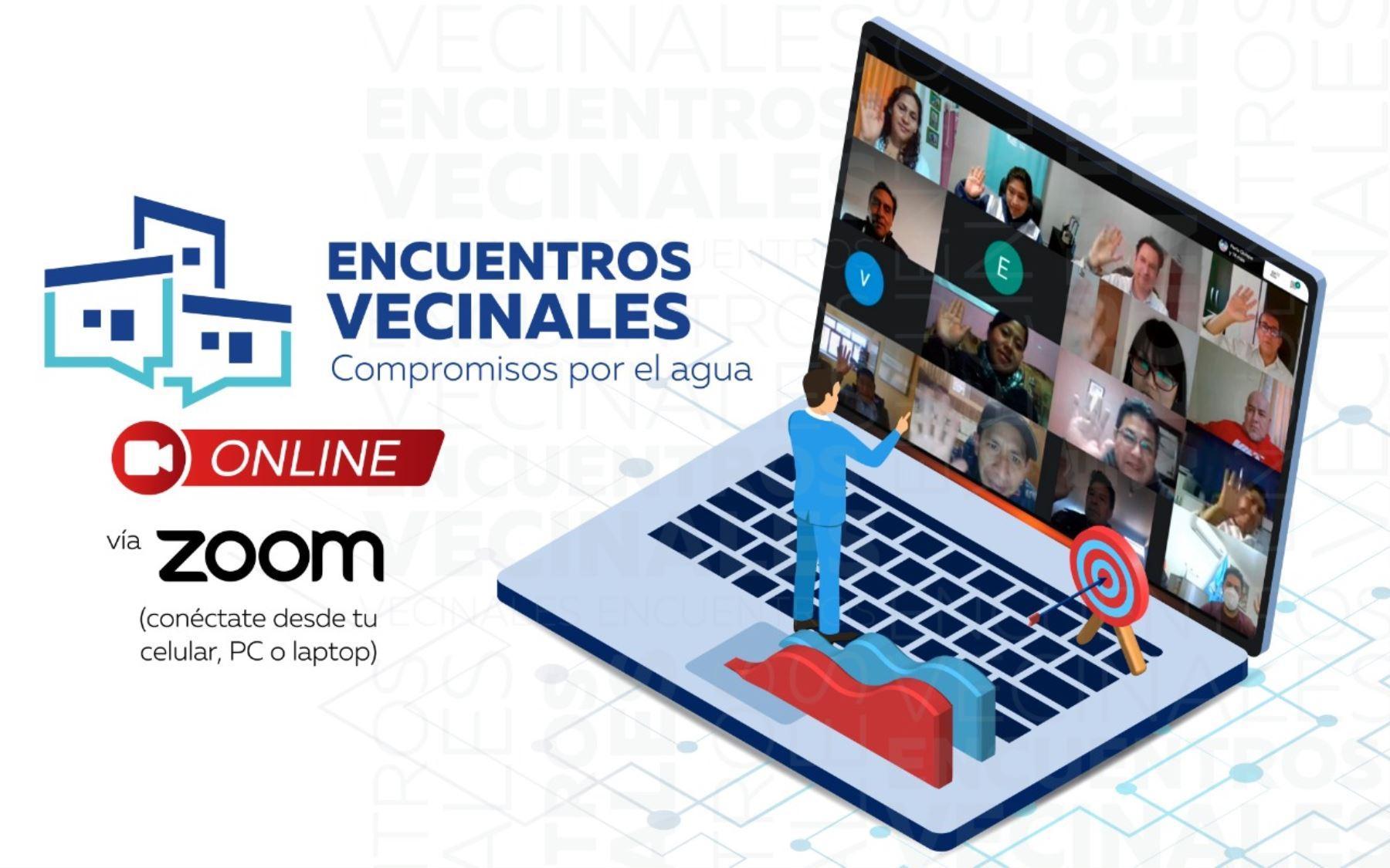 """Lanzan """"Encuentros Vecinales Virtuales"""" en regiones para mejorar servicios de saneamiento"""