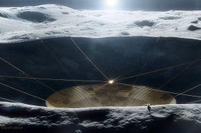 El proyecto Saptarshi Bandyopadhyay busca colocar un radiotelescopio en un cráter de la Luna.
