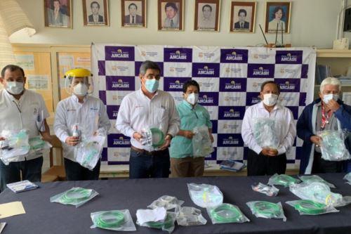 Hospital Regional de Chimbote recibió 10 concentradores de oxígeno de empresa Siderperú