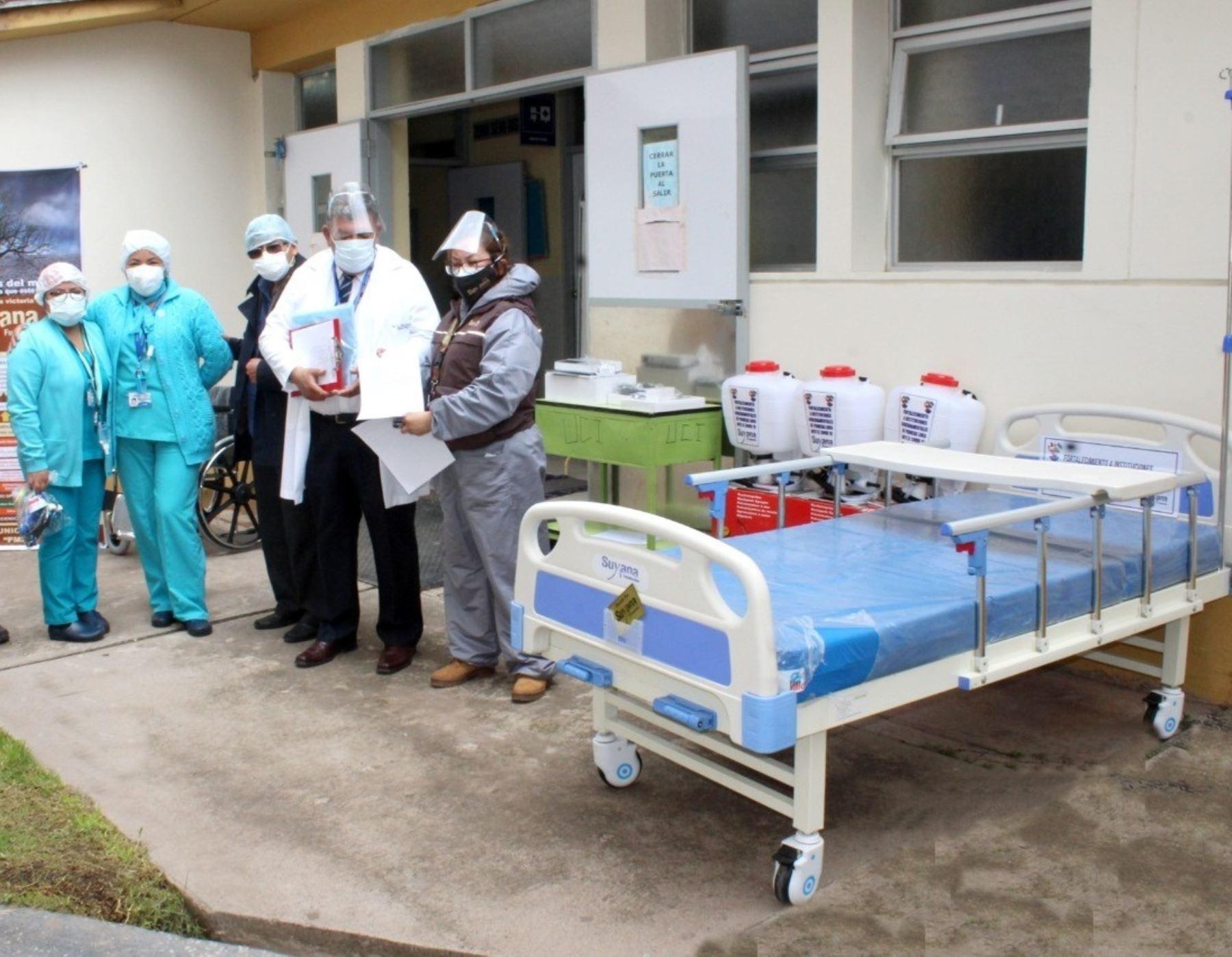 Fundación Suyana dona camas hospitalarias y equipos médicos a Hospital Regional de Cusco para mejorar atención de pacientes covid-19. ANDINA/Difusión