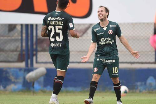 Hernán Novick marcó un golazo desde fuera del área a los 27 minutos. Foto: Difusión Liga 1.