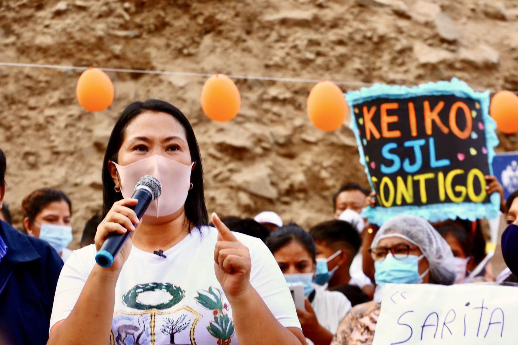 Keiko Fujimori, candidata presidencial por Fuerza Popular. Foto: ANDINA/difusión.