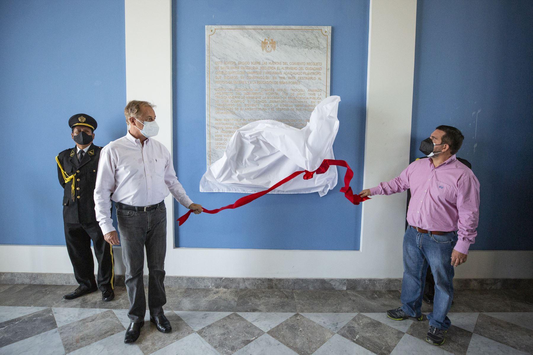 El alcalde de Lima, Jorge Muñoz, presentó el remodelado Hospicio Bartolomé Manrique. Foto: ANDINA/Municipalidad de Lima
