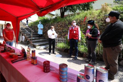 Ministra de Desarrollo e Inclusión Social supervisa entrega de alimentos y otros servicios en la región  Apurímac