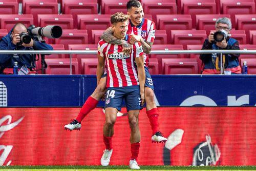 Atlético de Madrid gana 5 a 0 al Eibar por la Liga Española