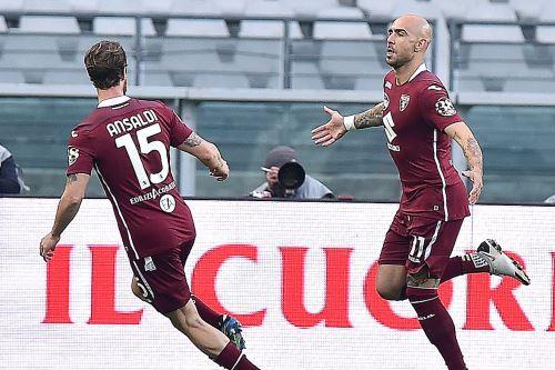 Torino FC gana 3 a 1 al AS Roma en el elencuentro de la Serie A de Italia