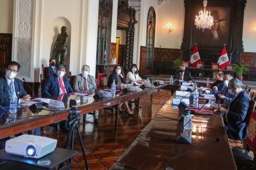 Presidente Francisco Sagasti, lideró sesión del Consejo de Estado donde se abordó nuevas disposiciones del gobierno frente a la pandemia