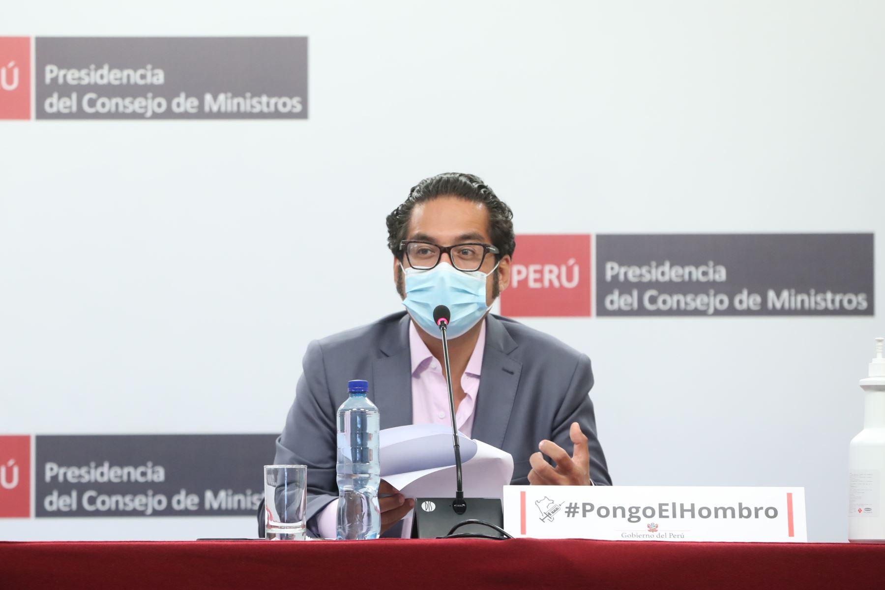 Ministro de la Producción, José Luis Chicoma. Foto: PCM