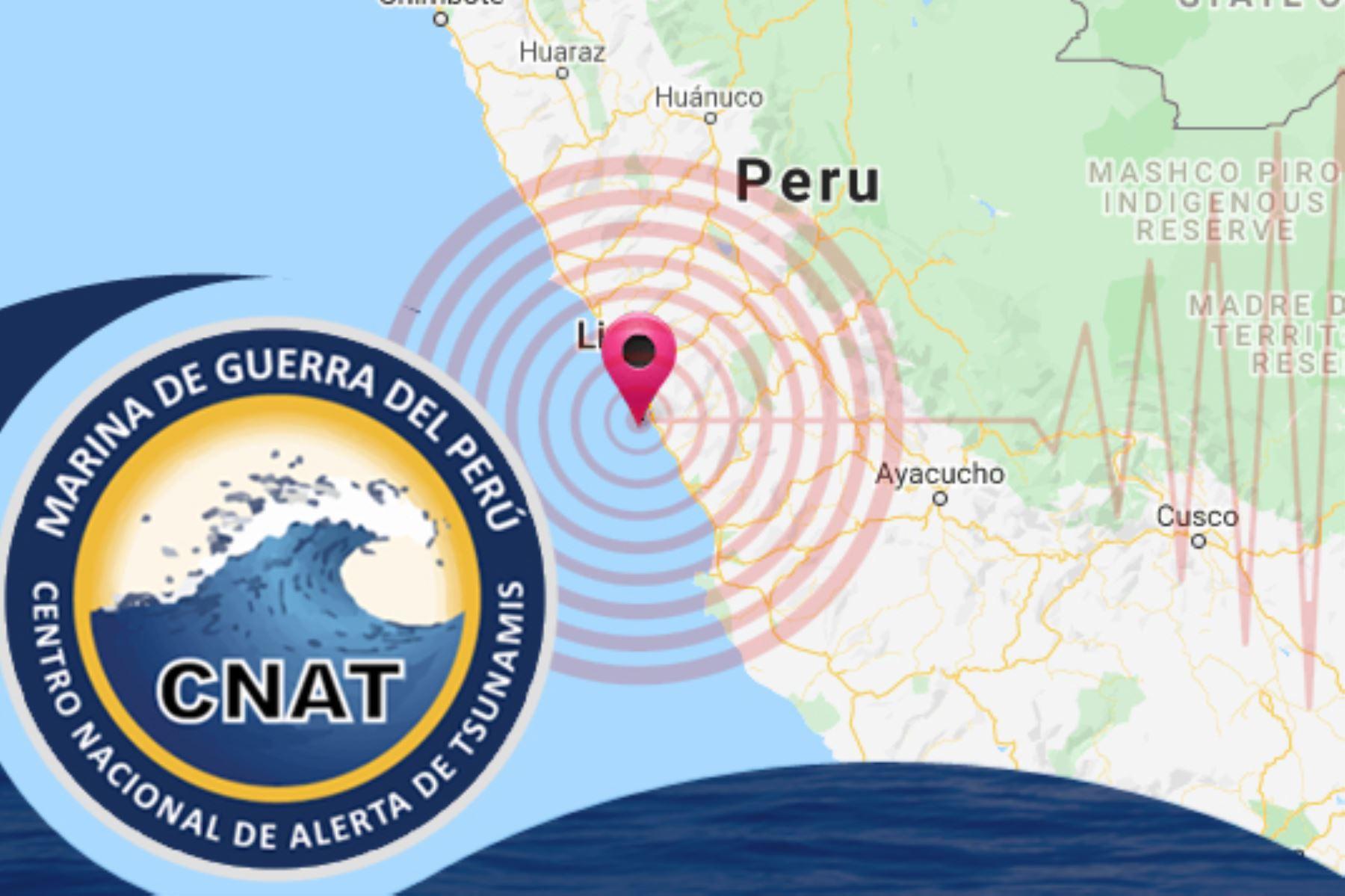 La profundidad del temblor fue de 41 kilómetros y se sintió con una intensidad de III en Chilca. Foto: ANDINA/Difusión.