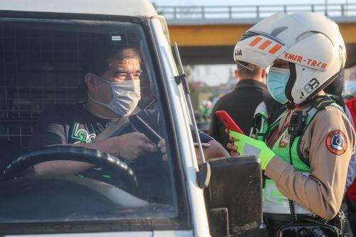 Titulares del MTC y Mininter supervisaron operativo policial para verificar el uso correcto de las licencias electrónicas