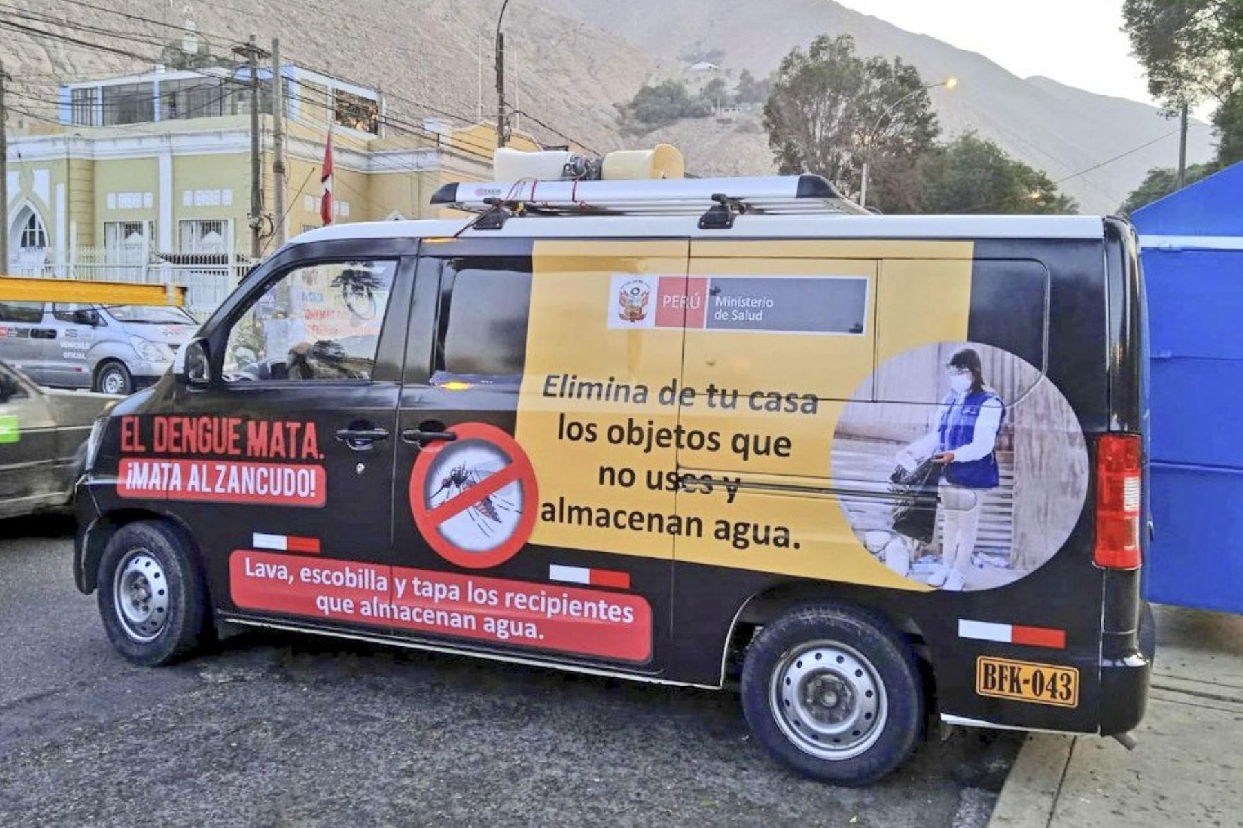 Este es el Dengue Móvil que recorrerá las calles del distrito de Lurigancho para prevenir la propagación de la enfermedad. Foto: ANDINA/Minsa
