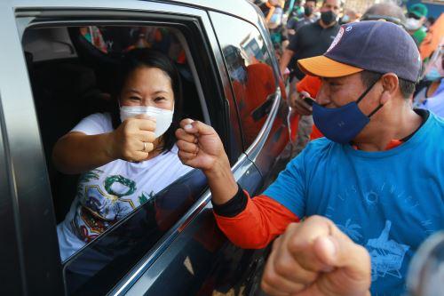 Keiko Fujimori reanudó sus viajes proselitistas hoy. Foto: ANDINA/Jhonel Rodríguez Robles.