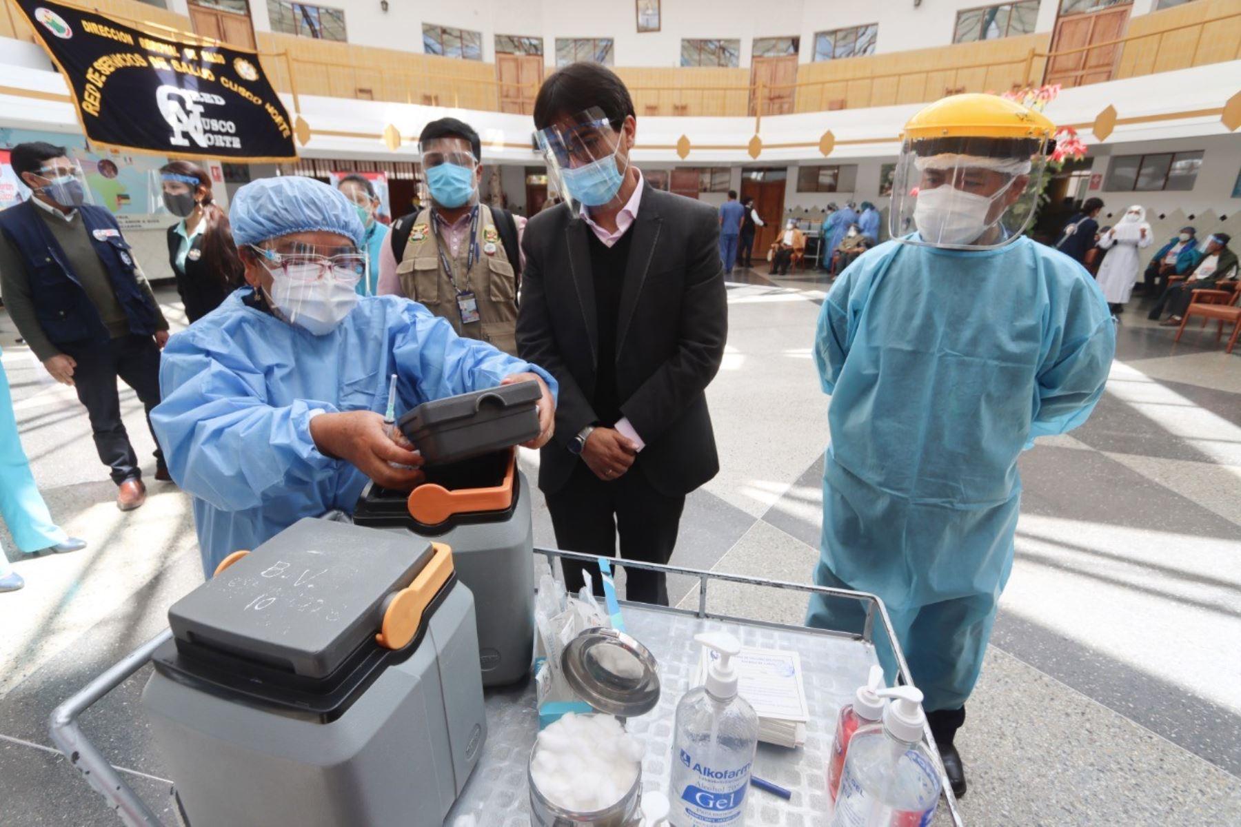 La región Cusco se prepara para acelerar el proceso de vacunación contra el covid-19. Foto: ANDINA/Difusión