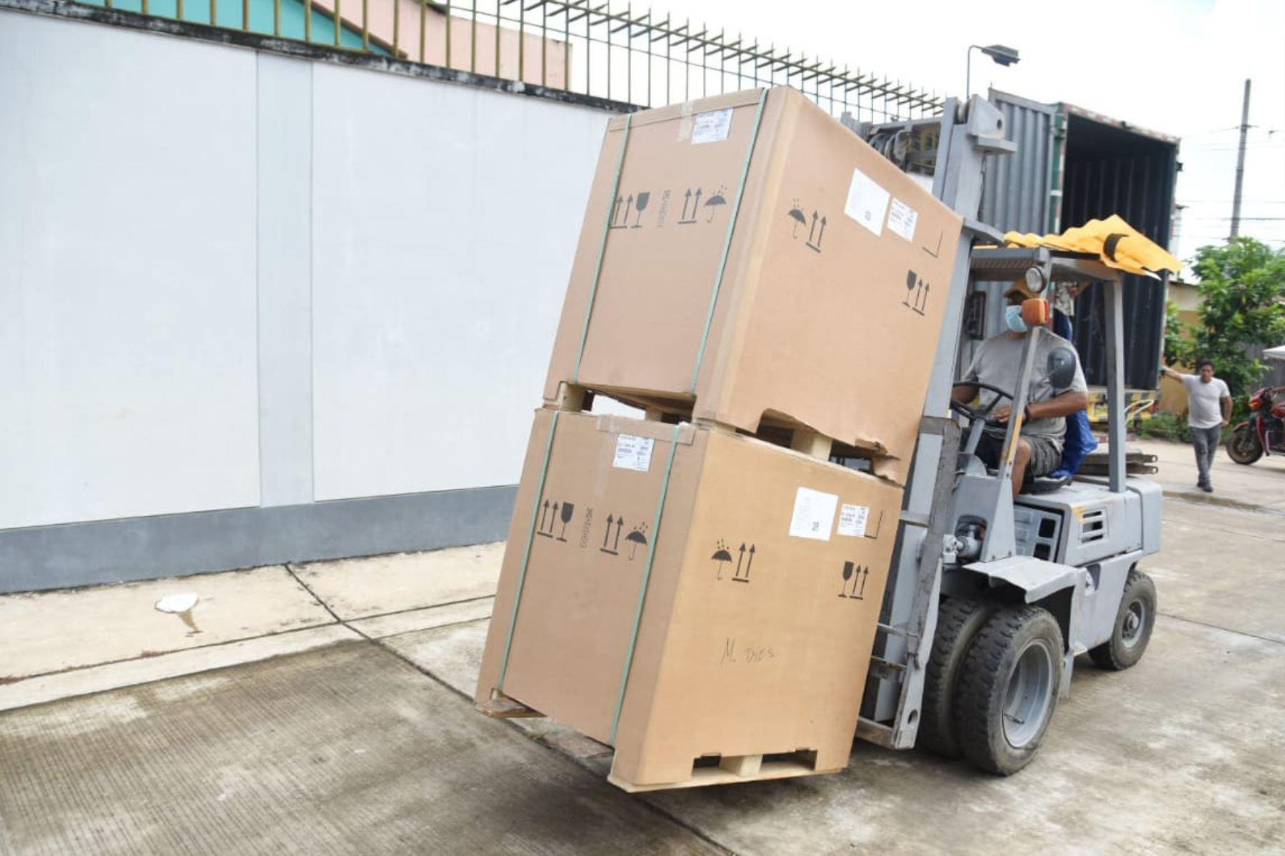 La región Madre de Dios recibió kits de cama UCI para fortalecer la lucha contra el covid-19. Foto: ANDINA/Gore Madre de Dios