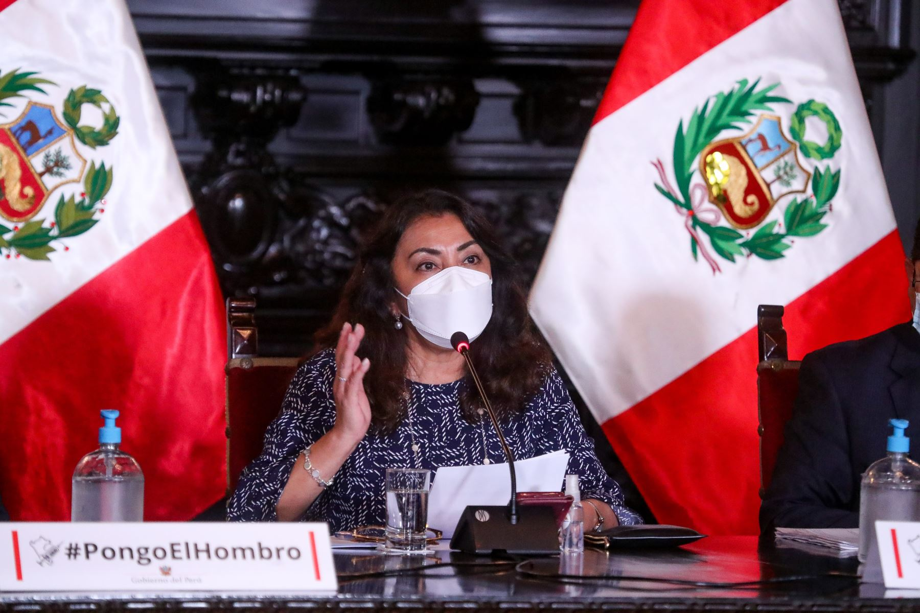 Premier Violeta Bermúdez y ministros brindan nuevos reportes y acciones realizadas para hacer frente a la pandemia de la covid-19. Foto: ANDINA /PCM