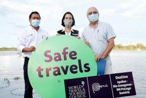 Ministra de Comercio Exterior y Turismo, Claudia Cornejo (al centro) en Iquitos, promocionando el turismo en la región Loreto. Foto: Cortesía.