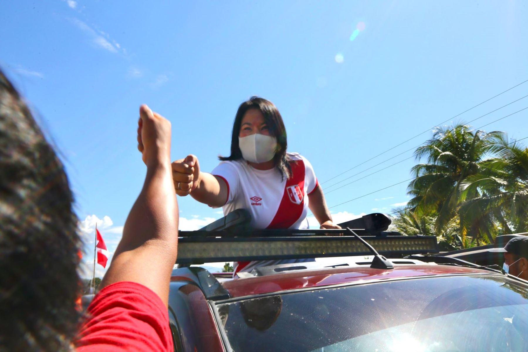 Keiko Fujimori realiza actividades en Tarma hoy sábado. Foto: ANDINA/difusión.