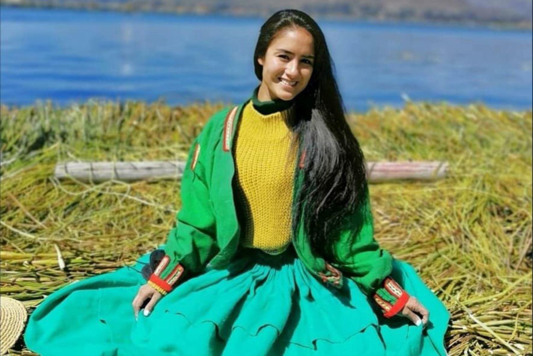 Mayella Lloclla culmina su primera semana de rodaje para Netflix en Puno. ANDINA/Difusión