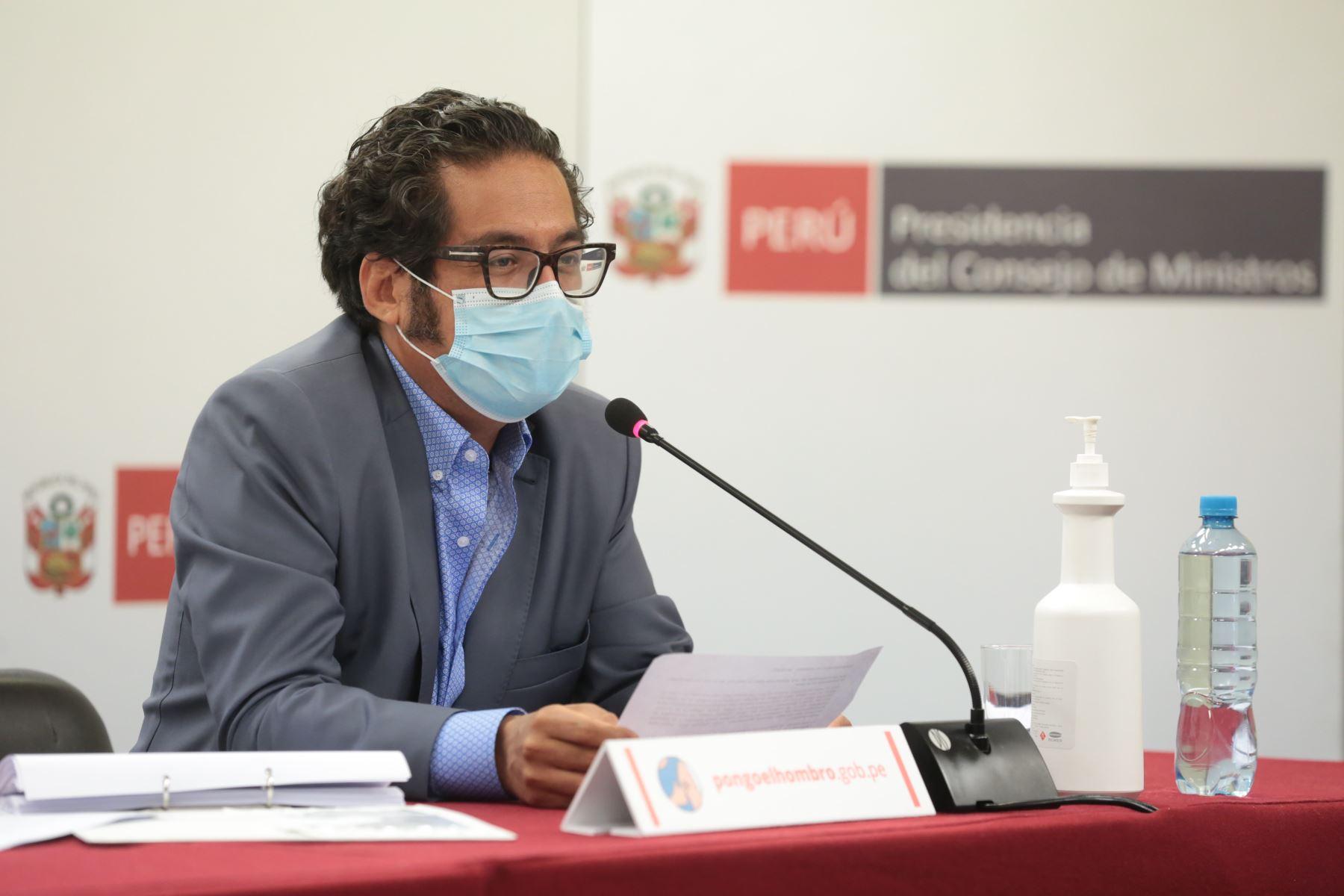 Ministro de la Producción, José Luis Chicoma. ANDINA/Difusión