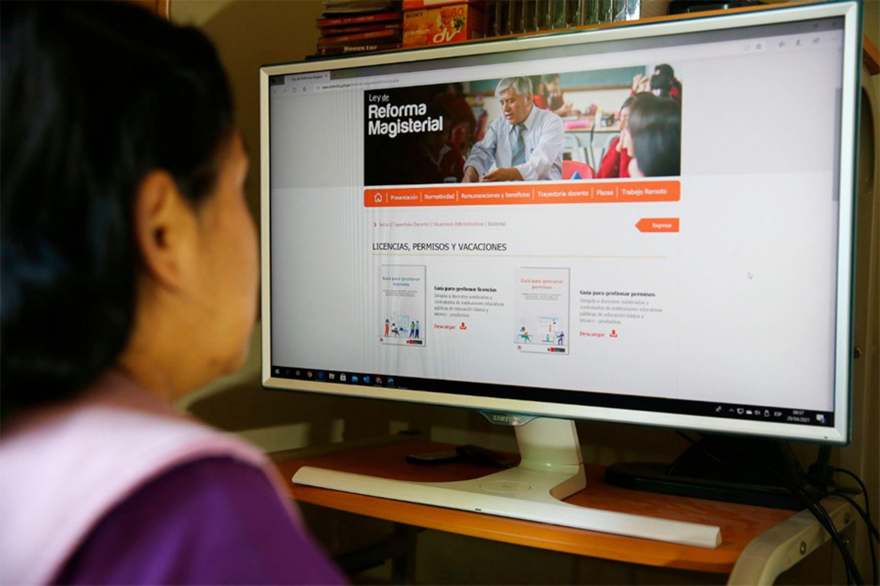 El Minedu viene implementando diversas medidas para facilitar los trámites y beneficios laborales de los docentes en el contexto de emergencia sanitaria por el Covid-19. Foto: ANDINA/Minedu