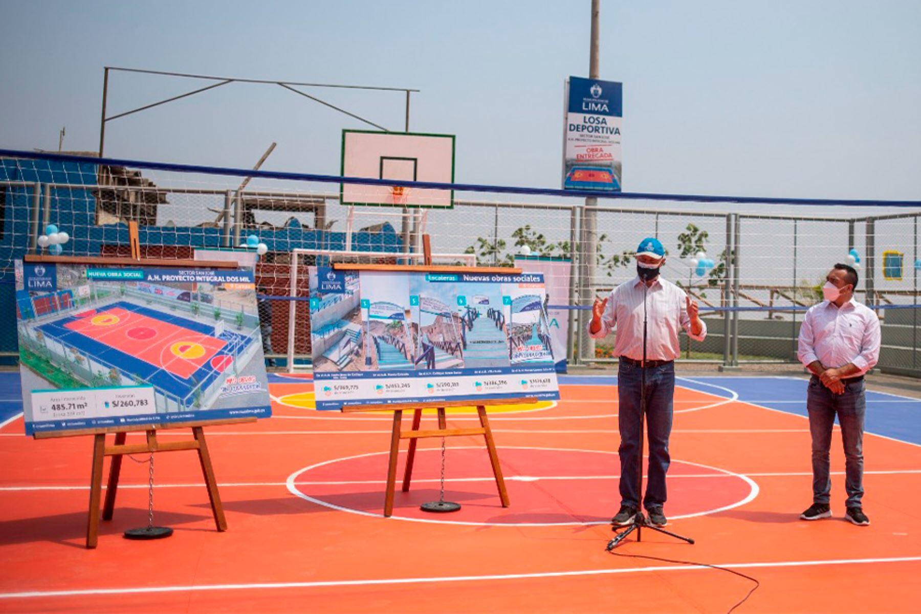 Infraestructuras permiten ampliar los espacios públicos y mejorar la conectividad peatonal en zonas de escasos recursos de Lima norte. Foto: ANDINA/Municipalidad de Lima