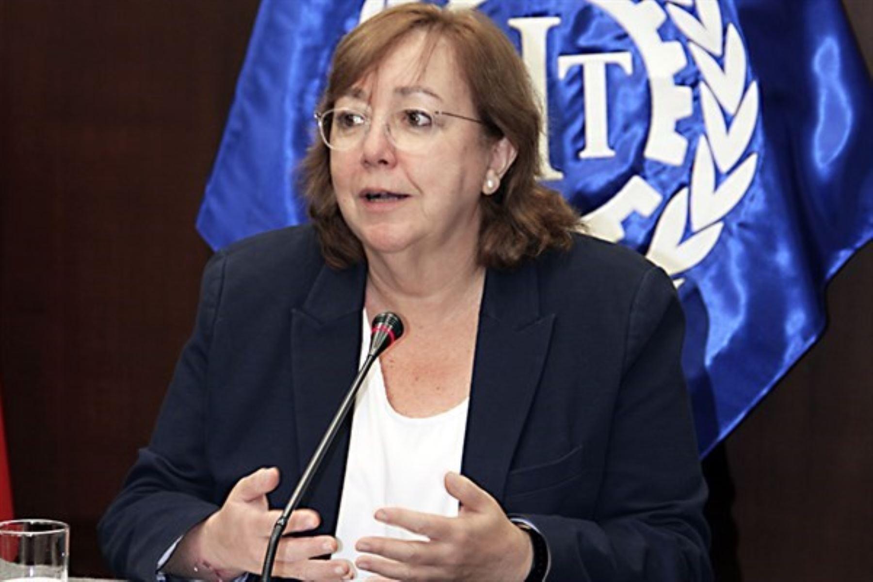 Elena Montobbio, directora adjunta de la Organización Internacional del Trabajo (OIT) para los países andinos. Foto: ANDINA/Difusión