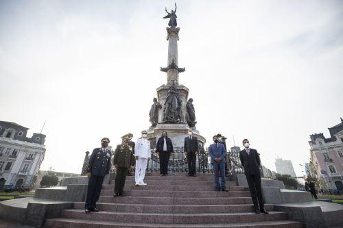 Municipalidad de Lima entrega el restaurado monumento a la victoria del Dos de Mayo