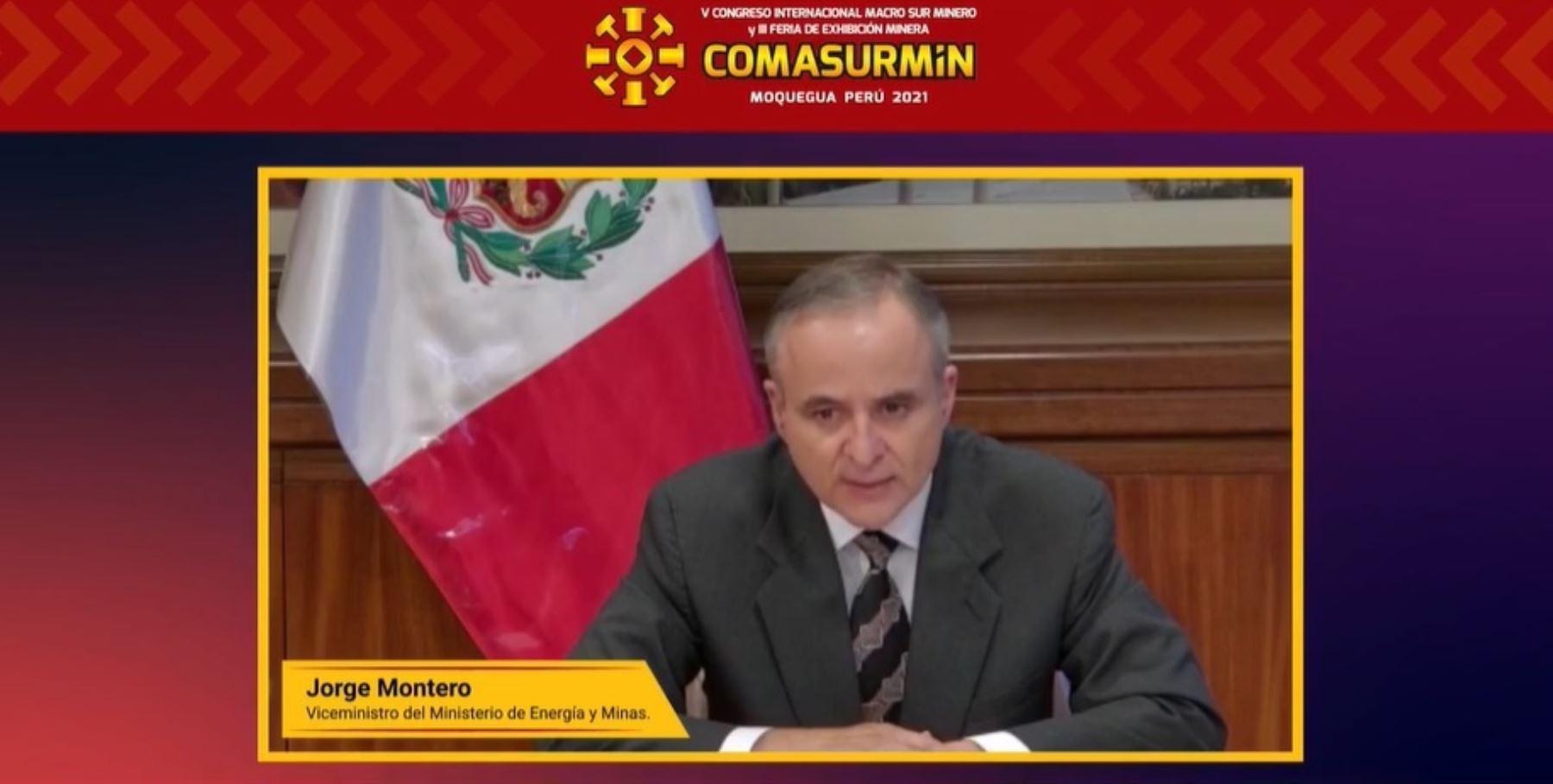 Viceministro de Minas, Jorge Luis Montero.