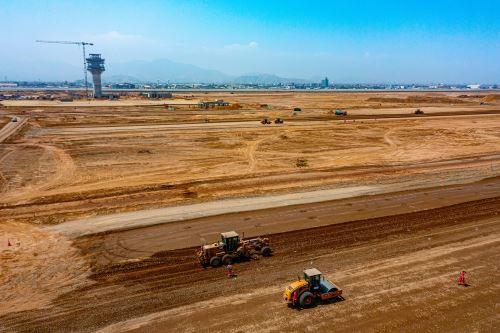Continúan obras de ampliación del aeropuerto Jorge Chávez