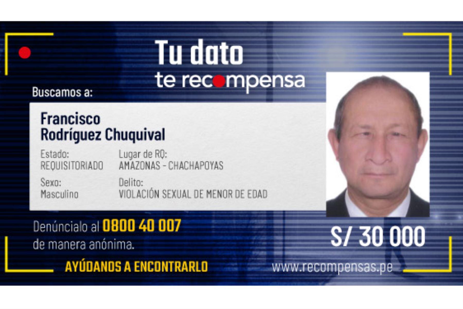 Francisco Rodríguez Chuquival (67) y Moisés Catpo Vallejos (78) tienen órdenes de captura, acusados de haber ultrajado a menores de edad. Foto: ANDINA/Mininter